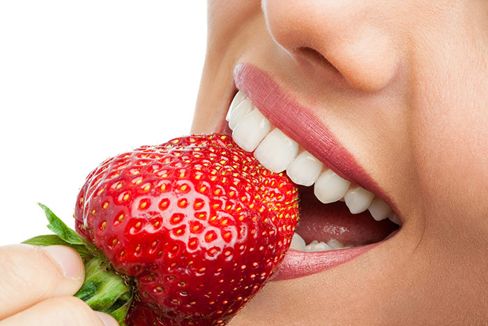 Oyster Point Dentistry - Strawberry help whitens teeth
